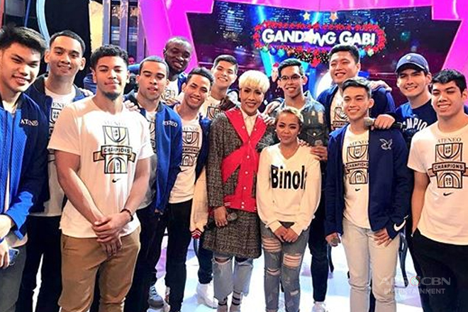 PHOTOS: Ateneo Blue Eagles & Funny One Season 2 Grand Winner Donna Cariaga on GGV