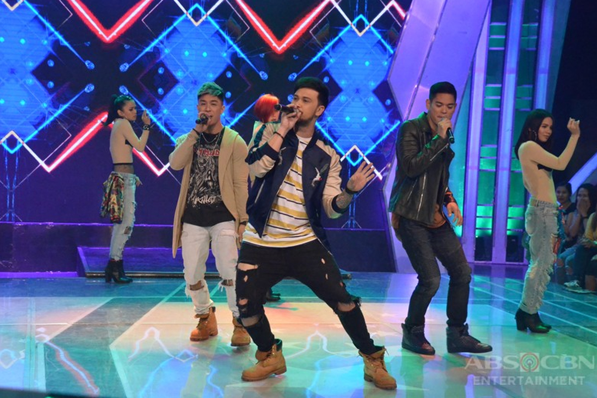 Billy, Kris, and Jay-R perform on GGV