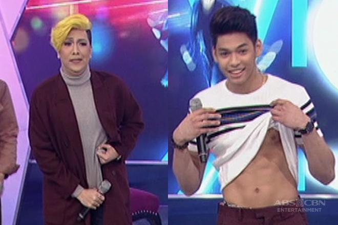 Vice Ganda, itinuro ang 'pa-abs' pose kay Ricci