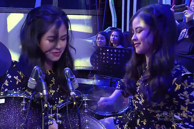 Kisses Delavin shows off drumming skills on GGV!