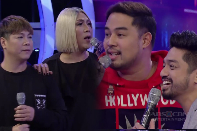Vice at MC, hindi nagpatalo kina Jed at Nyoy sa Dugtungan challenge