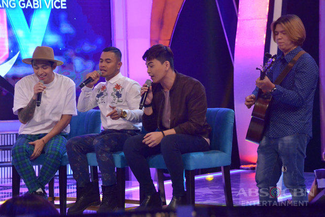 Dugtungan challenge with Michael Pangilinan, Bugoy Drilon and Daryl Ong