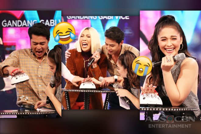 "PHOTOS: Vice, Maja and Zanjoe's funny reactions on GGV's ""Lie Detector Test"" challenge!"
