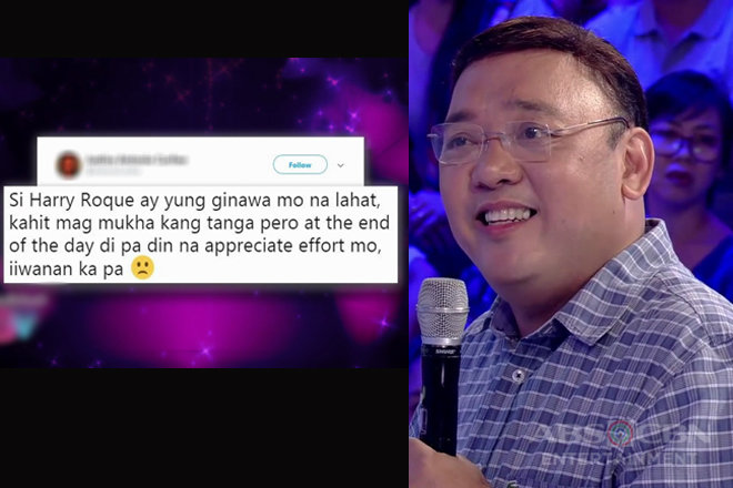 Harry Roque reacts to mean tweets on GGV