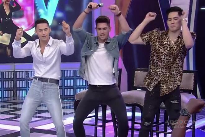 """GGV: Enzo Pineda, Mark Mcmahon and Gab Lagman do the """"Oh Na Na Na"""" dance challenge Image Thumbnail"""